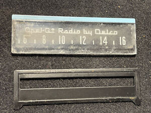 1968-73 Opel GT AM Radio by Delco Clear Plastic Display Piece