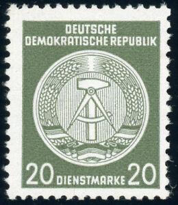 DDR-Dienst, MiNr. A 22 z II XII, postfrisch, II. Wahl, Befund Ruscher, Mi. 250,-