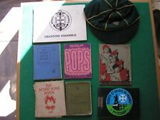 More details for a collection of scout memorabilia, bages and books     con  vg