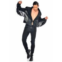 Patrice Catanzaro, Jayden, Man Jacket IN Falsely Leather And Tweed With Fringe