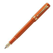 Parker Duofold Centennial Big Red & Gold Fountain Pen Med Pt 18Kt Gold New In Bx