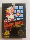 Super Mario Bros Nintendo NES Hang Tab Black Box 5 Screw Non Rev-A Game & Manual