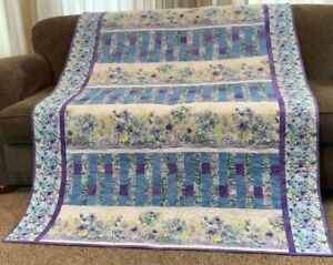 "Homemade Floral Lap Quilt - 52"" x 70"""