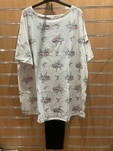 Pretty Secrets pyjama set bnip uk size 24-26 extra long top