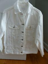 Topshop White Oversized Denim Jacket, US Size 2, NWT