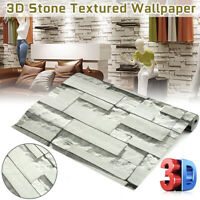 Non-woven 3D Wallpaper Stickers Textured Brick Stone Vintage Modern Wall