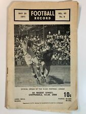 Sydney Football Record Vol 43 No 9 May 1971