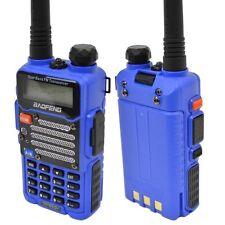 Baofeng Blue UV-5R V2+ Dual-Band 136-174/400-480 MHz FM Ham Two-way REFURBISHED