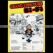 BI-FI 'Grand Concours GASTON LAGAFFE' par FRANQUIN 1970 (Guust) - Pub Ad #A879