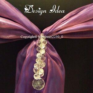 20 Acrylic Crystal Bead Drops Chain Wedding Centrepieces Sasha Decor 23cm Length