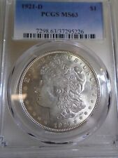 1921-D Morgan Dollar VAM 1D or 4A Major busted up reverse die! MS63 PCGS
