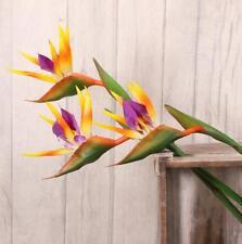 6 x Bird of Paradise Strelitzia 80 cm Artificiale Fiore pianta tropicale