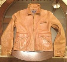 Ralph Lauren 100% Leather Pilot Womens Jacket Size Small Color Tan Burnished