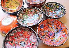 Colourful! Turkish ceramic bowls - 16cm,handmade, hand painted Ottoman designs