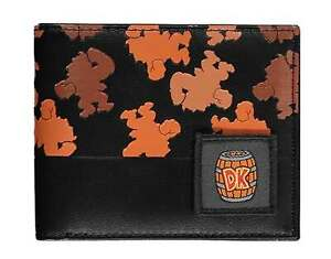 Super Mario Wallet Donkey Kong Print new Official Black Bifold One Size