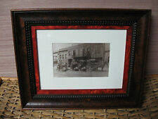 A Framed Photo Restoration of Coca Cola Delivery Wagons by Steele Studio