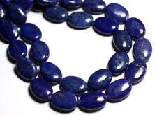 Fil 39cm 21pc env - Perles de Pierre - Lapis Lazuli Ovales 18x13mm