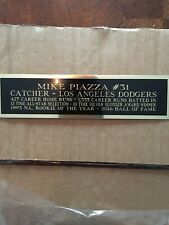 Mike Piazza Jersey Display Plaque