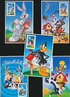 Looney Tunes Collection  5 Different Mint NH Panes 3137C 3204C 3306C 3391C 3534C