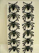 12 HALLOWEEN Fuzzy SPIDERS Table Decoration Crafting decor - 1.75 X 2