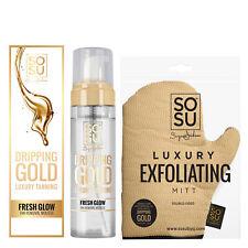 SOSU Dripping Gold Tan Removal Mousse & Exfoliating Mitt Self Tanning Gift Set