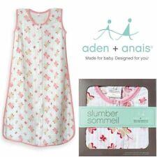 Aden and Anais Princess Posie Sleeping Bag Lightweight 100% Cotton Muslin Small