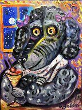 Labradoodle Dog Poodle Doodle Original Oil Painting By Mbollen PlDog In Bar New