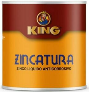 King 500 ml zinco liquido vernice ferro metallo antiruggine grigio