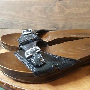 DR. SCHOLLS Advanced Comfort Series Black Clogs/Slides/Sandals Women's size 6New