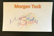 MORGAN TUCK WNBA Connecticut Sun Autographed Signed Custom 3x5 Index Card 1