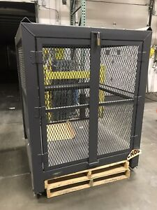 Steel Rack Pallet Security Cage - or Shark Cage Or Personal Vault