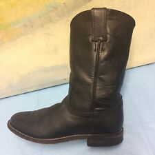 Justin Black Boots Size 7 C Women Women's Leather Style L3703