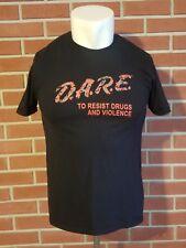 Dare to Resist Drugs and Violence Short Sleeve Crewneck T-Shirt Mens Medium EUC