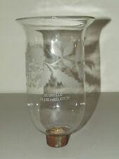 Antique 19th C. Signed Degrelle Belgium Floral Hand Blown Hurricane Lamp Shade