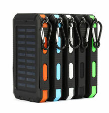 Solar Power Bank battery20000mAh charger for phone portable 2USB with LED Lamp