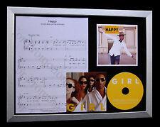 PHARRELL WILLIAMS Happy LTD GALLERY QUALITY CD FRAMED DISPLAY+FAST GLOBAL SHIP
