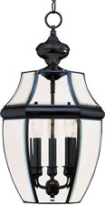 MAXIM LIGHTING 3-LIGHT OUTDOOR HANGING LANTERN - BLACK FINISH/CLEAR GLASS*****