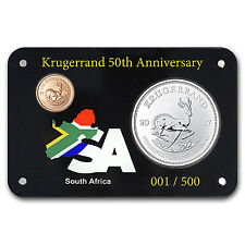 2017 South Africa 2-Coin Krugerrand Premium 50th Anniversary Set - SKU #151053