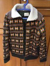 Men's brave soul large winter wool kint Cardigans Knitwear jumper jacket