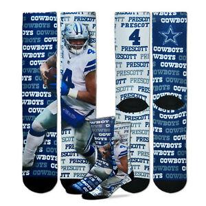 Dallas Cowboys Say My Name Dak Prescott Sublimated Socks