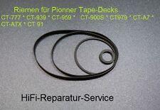 Riemenset: Pioneer CT-777, CT-939, CT-959, CT-900S, CT-979, CT-A7, CTA7X, CT-91