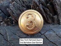 Old Vintage Antique New York War National Guard 3rd Battalion Coat Button
