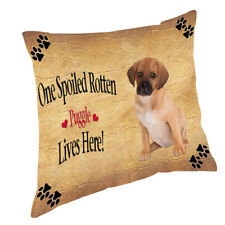 Puggle Puppy Spoiled Rotten Dog Throw Pillow 14x14