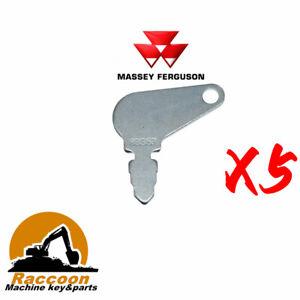 5pcs 83353 Short Hencol Key Fits Massey Ferguson John Deere case 192923M1 bobcat