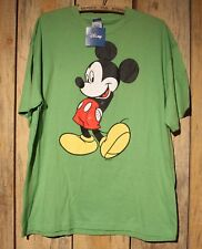 Disney Jerry Leigh Classic Mickey Mouse T-Shirt Lime Green Size XL New With Tags