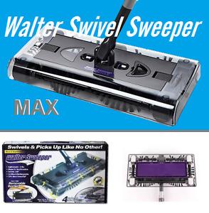New in box Walter Swivel Sweeper Latest Cordless Max Quad Brush*