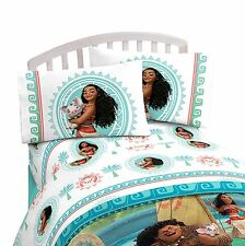 Disney Moana 4pc DOUBLE Bed SHEET Set Pillowcases Flat & Fitted Sheets