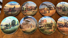 Complete Set of 8 John Deere Plates Farmland Memories Collection Mort Kunstler