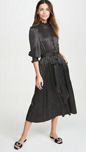 $995 RUNWAY MARC JACOBS Ruffle Collar Satin Midi Dress Size 12