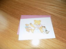 VTG Current R Dean Grist Tea Party Greeting Card NEW TEDDY BEAR